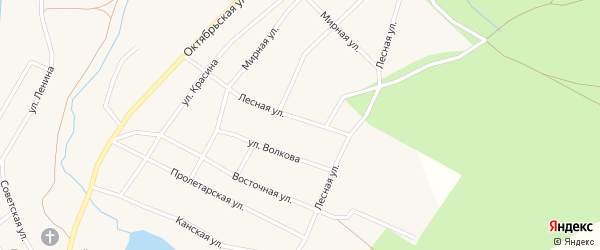 Лесная улица на карте Кананикольского села с номерами домов