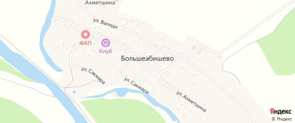 Подгорная улица на карте села Большеабишево с номерами домов