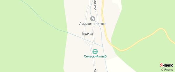 Улица С.Юлаева на карте села Бриша с номерами домов