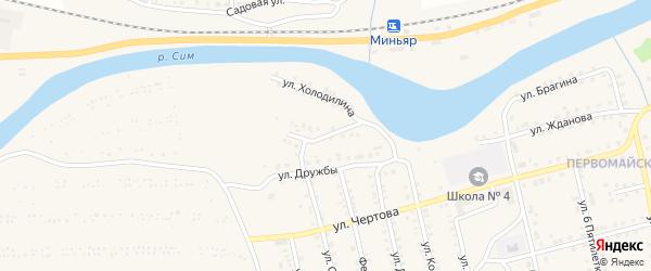 Улица 40 лет Октября на карте Миньяра с номерами домов