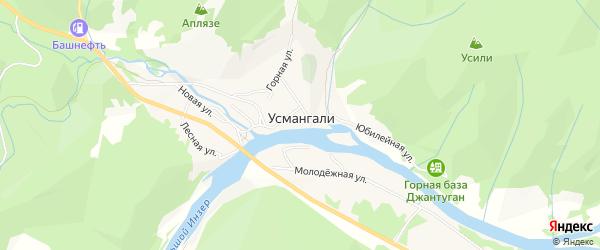 Карта села Усмангали в Башкортостане с улицами и номерами домов
