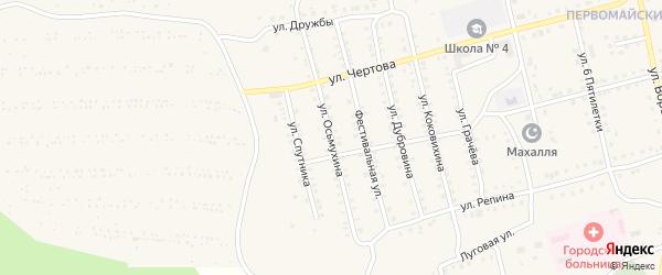 Улица Осьмухина на карте Миньяра с номерами домов