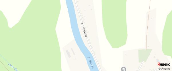 Улица Агидель на карте деревни Мурадымово с номерами домов