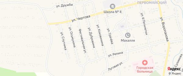 Улица Дубровина на карте Миньяра с номерами домов
