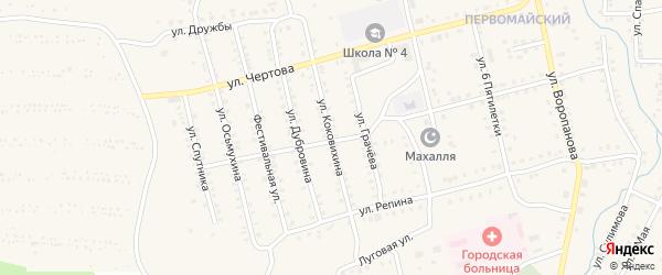 Улица Коковихина на карте Миньяра с номерами домов
