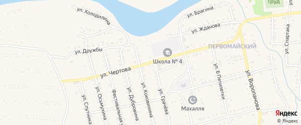 Улица Чертова на карте Миньяра с номерами домов