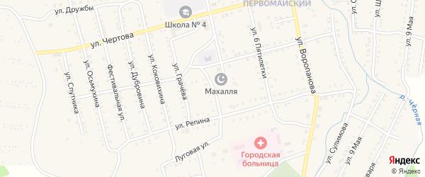 Улица Новикова на карте Миньяра с номерами домов