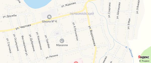 Улица 6 Пятилетки на карте Миньяра с номерами домов