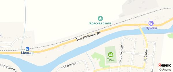 Вокзальная улица на карте Миньяра с номерами домов