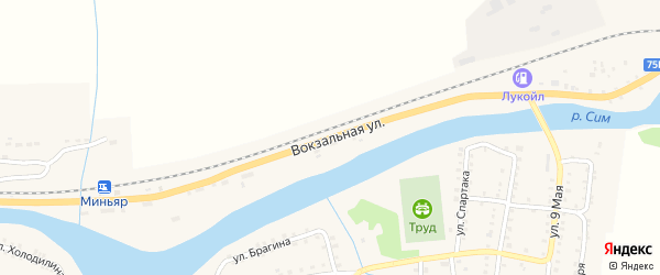 Вокзальная улица на карте разъезда Ерала с номерами домов
