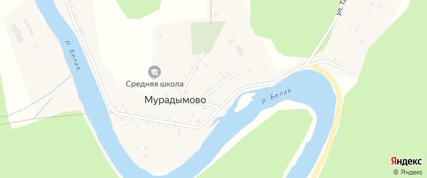 Школьная улица на карте деревни Мурадымово с номерами домов