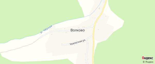 Школьная улица на карте поселка Волково с номерами домов