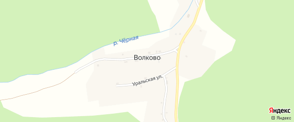 Уральская улица на карте поселка Волково с номерами домов