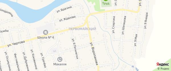 Улица Фатеева на карте Миньяра с номерами домов