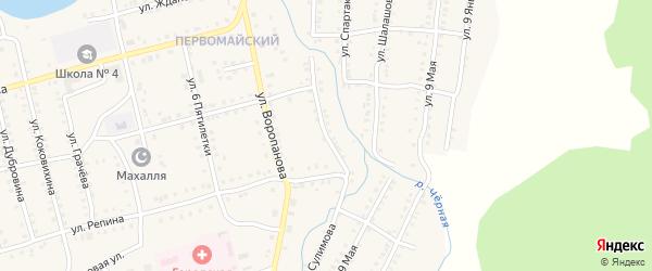Улица Сулимова на карте Миньяра с номерами домов