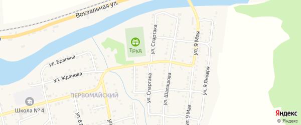 Улица Спартака на карте Миньяра с номерами домов