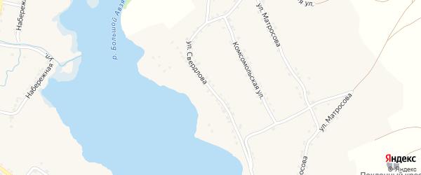 Улица Свердлова на карте села Верхнего Авзяна с номерами домов