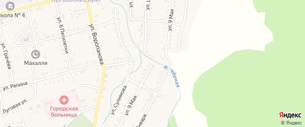 9 Мая улица на карте Миньяра с номерами домов