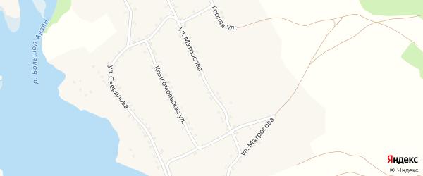 Улица Матросова на карте села Верхнего Авзяна с номерами домов