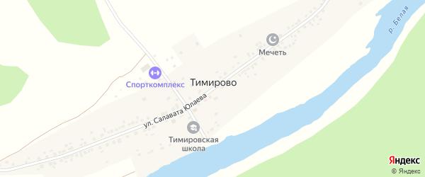 Улица Мажита Гафури на карте деревни Тимирово с номерами домов