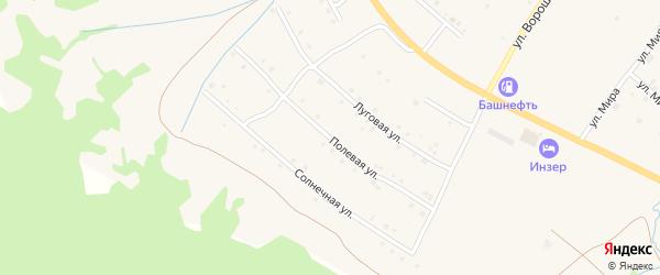 Полевая улица на карте села Инзера с номерами домов
