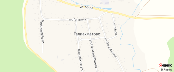 Речная улица на карте села Галиахметово с номерами домов