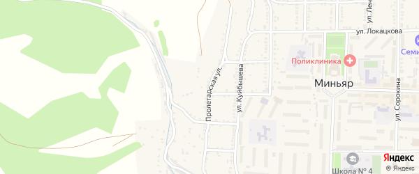 Пролетарская улица на карте Миньяра с номерами домов