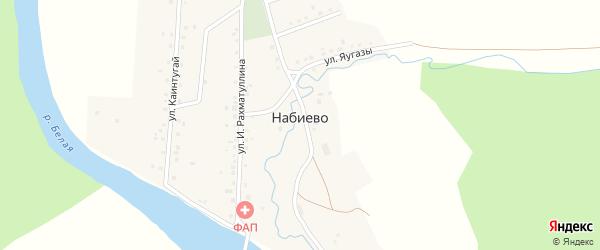 Улица И.Рахматуллина на карте деревни Набиево с номерами домов