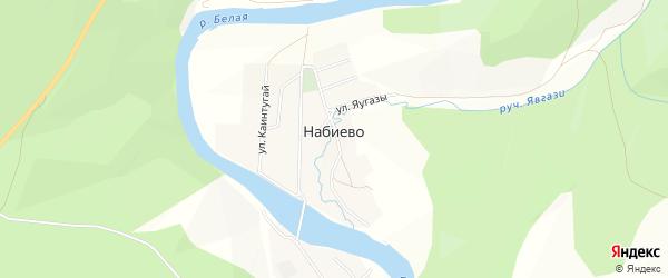 Карта деревни Набиево в Башкортостане с улицами и номерами домов
