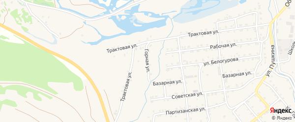 Горная улица на карте села Инзера с номерами домов