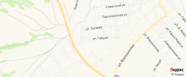 Улица М.Гафури на карте села Инзера с номерами домов