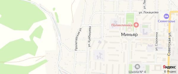 Улица Куйбышева на карте Миньяра с номерами домов