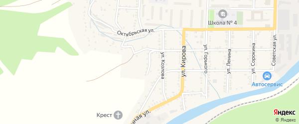 Рудничная улица на карте Миньяра с номерами домов