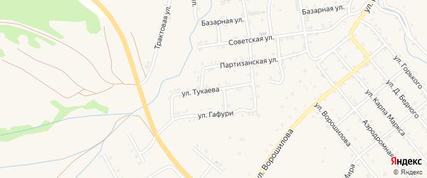 Улица Тукаева на карте села Инзера с номерами домов