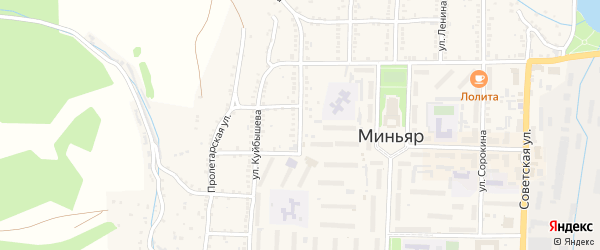 Улица Козлова на карте Миньяра с номерами домов