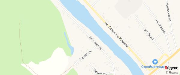 Бельская улица на карте деревни Байназарово с номерами домов