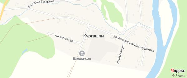 Улица Ялан-уй на карте деревни Кургашлы с номерами домов