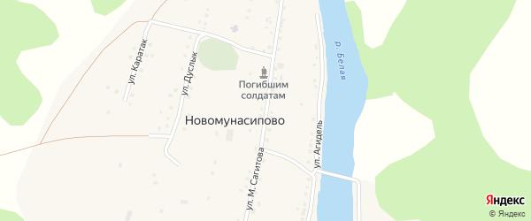 Улица М.Сагитова на карте деревни Новомунасипово с номерами домов