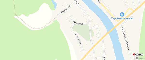 Горная улица на карте деревни Байназарово с номерами домов