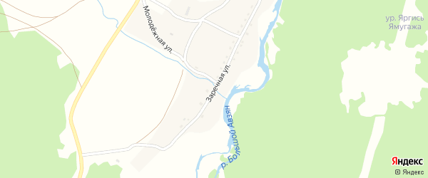 Заречная улица на карте села Исмакаево с номерами домов