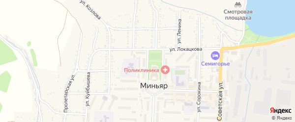 Улица Горького на карте Миньяра с номерами домов