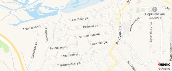 Улица Белогурова на карте села Инзера с номерами домов