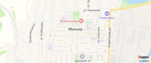 Улица Захарычев Бугор на карте Миньяра с номерами домов