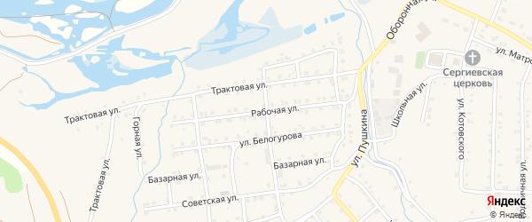 Рабочая улица на карте села Инзера с номерами домов