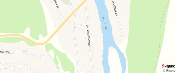 Улица Заки Валиди на карте деревни Кургашлы с номерами домов