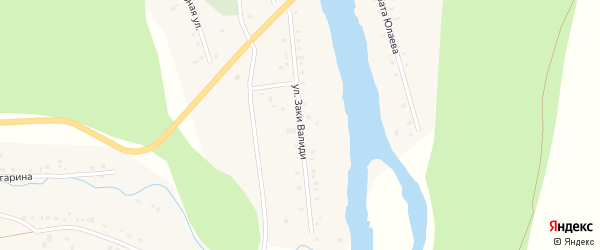 Улица Заки Валиди на карте деревни Байназарово с номерами домов