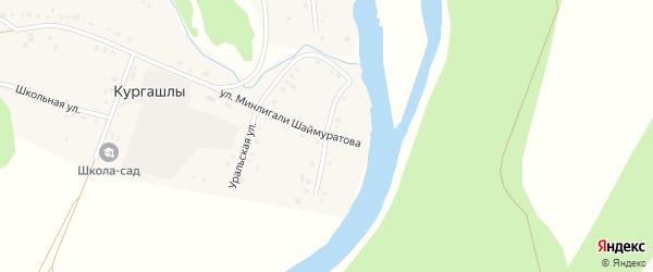 Улица Мусы Гареева на карте деревни Кургашлы с номерами домов