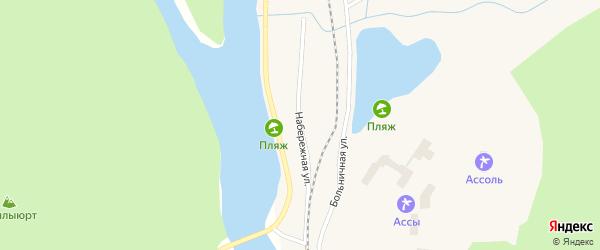 Набережная улица на карте села Ассов с номерами домов