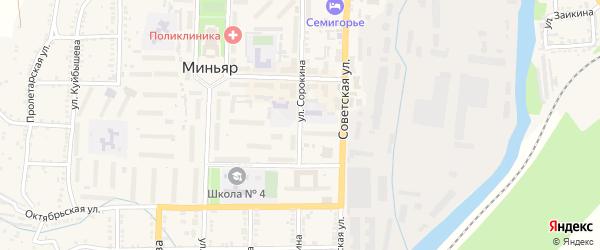Улица Сорокина на карте Миньяра с номерами домов