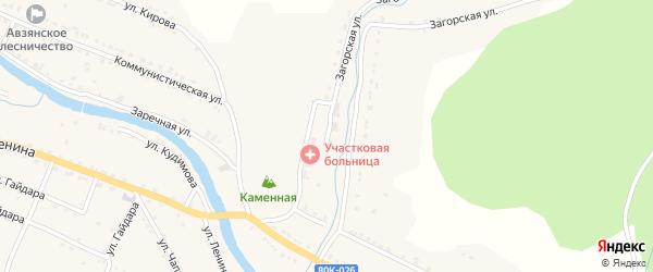 Загорская улица на карте села Верхнего Авзяна с номерами домов